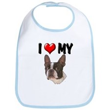 I Love My Boston Terrier Bib