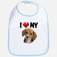 I Love My Beagle Bib