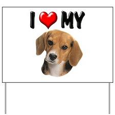 I Love My Beagle Yard Sign