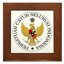 Indonesia Chess Federation Framed Tile