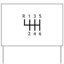 Gearshift - Race Yard Sign
