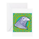 Decorative Muff Gamecock Greeting Card