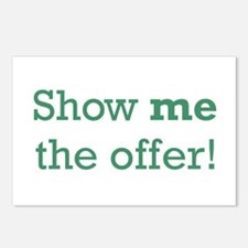 Show me the Offer Postcards (Package of 8)