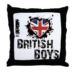 Brits Throw Pillow