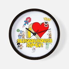 I Heart Schoolhouse Rock! Wall Clock