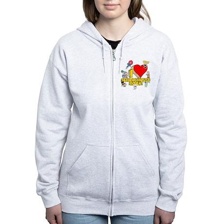 I Heart Schoolhouse Rock! Women's Zip Hoodie