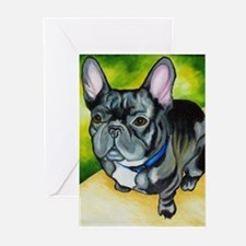 Black Frenchie Greeting Cards (Pk of 10)