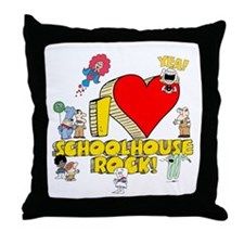 I Heart Schoolhouse Rock! Throw Pillow