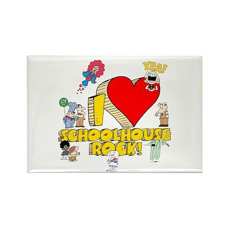 I Heart Schoolhouse Rock! Rectangle Magnet (10 pac