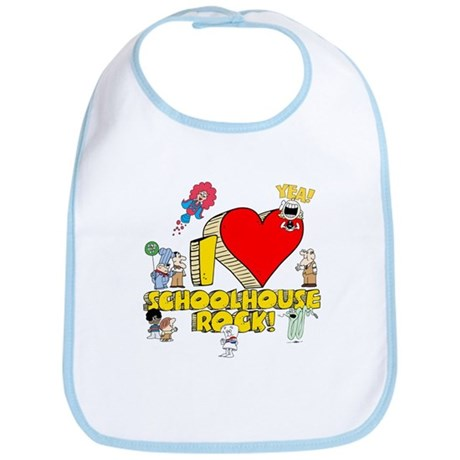 I Heart Schoolhouse Rock! Bib