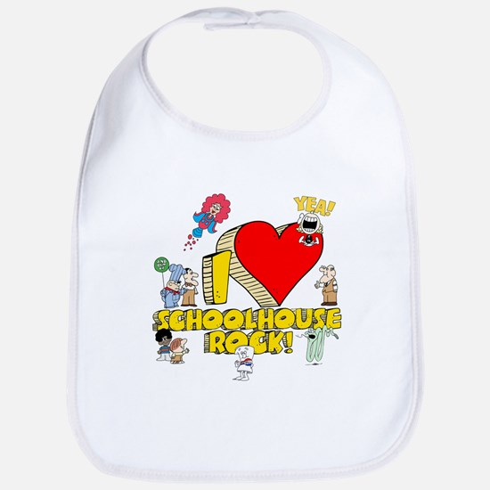 I Heart Schoolhouse Rock! Bib