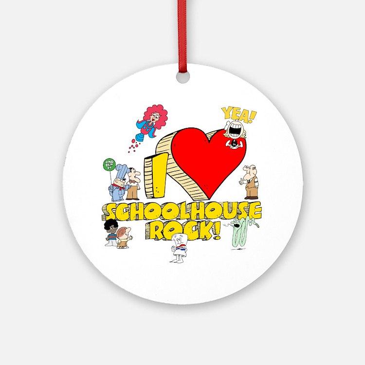 I Heart Schoolhouse Rock! Round Ornament