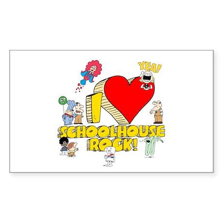 I Heart Schoolhouse Rock! Sticker (Rectangle)