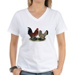 DUccle Mille Fleur Pair Women's V-Neck T-Shirt