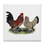 DUccle Mille Fleur Pair Tile Coaster