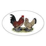 DUccle Mille Fleur Pair Sticker (Oval)
