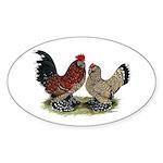 DUccle Mille Fleur Pair Sticker (Oval 10 pk)