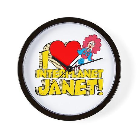 I Heart Interplanet Janet! Wall Clock