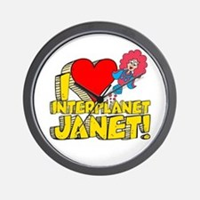 I Heart Interplanet Janet! Wall Clock