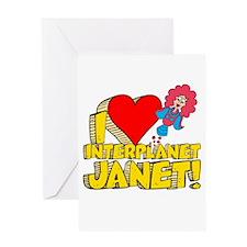 I Heart Interplanet Janet! Greeting Card