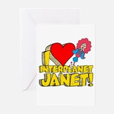 I Heart Interplanet Janet! Greeting Cards (Pk of 2