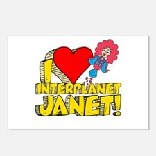 I Heart Interplanet Janet! Postcards (Package of 8