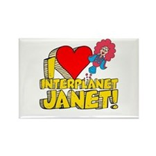 I Heart Interplanet Janet! Rectangle Magnet