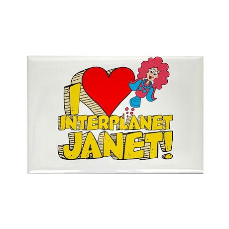 I Heart Interplanet Janet! Rectangle Magnet (100 p