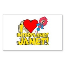 I Heart Interplanet Janet! Decal