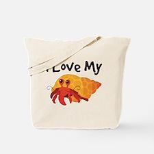 I Love My Hermit Crab Tote Bag