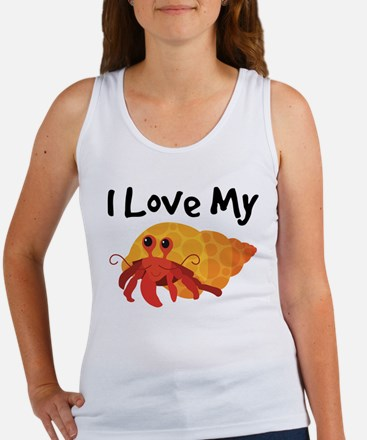 I Love My Hermit Crab Women's Tank Top