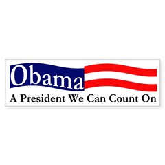 Obama: A President We Can Count On Decal