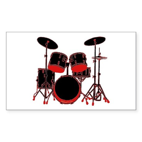 Drums Rectangle Sticker