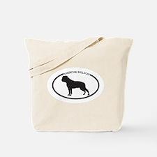 American Bulldog Silhouette Tote Bag