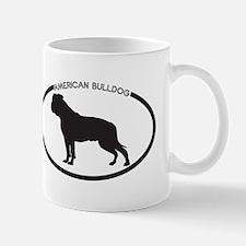 American Bulldog Silhouette Mug