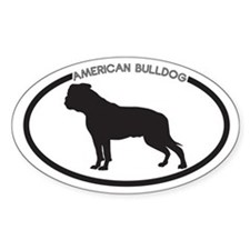 American Bulldog Silhouette Decal