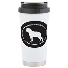 American Bulldog Silhouette Travel Mug