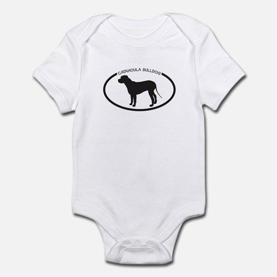 Catahoula Bulldog Silhouette Infant Bodysuit