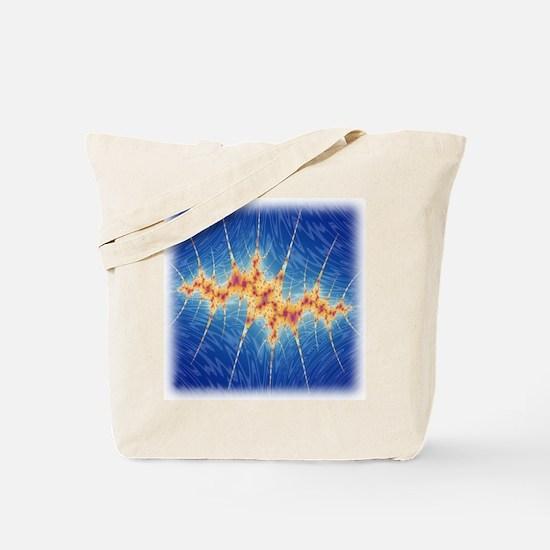 Crown of Spikes Fractal Tote Bag