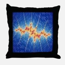Crown of Spikes Fractal Throw Pillow