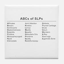 ABCs of SLPs Tile Coaster
