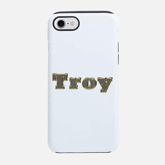 Troy Gold Diamond Bling iPhone 7 Tough Case