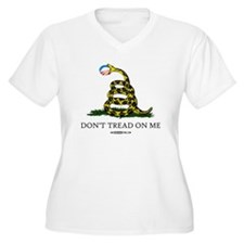 Anti-Obama Gadsden Flag T-Shirt