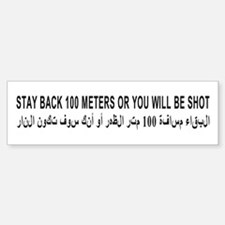 STAY BACK Bumper Bumper Sticker