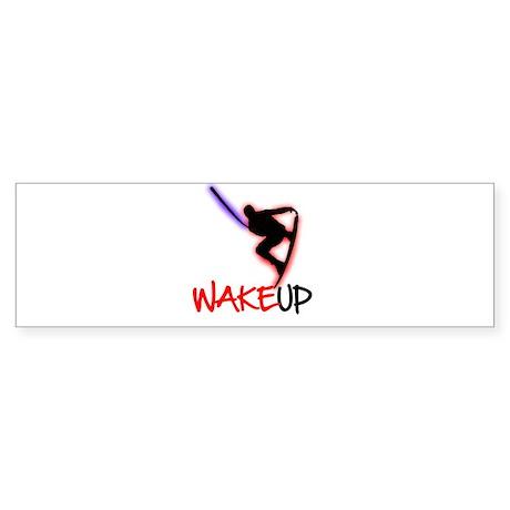 Wake Up Red/Purple Sticker (Bumper)