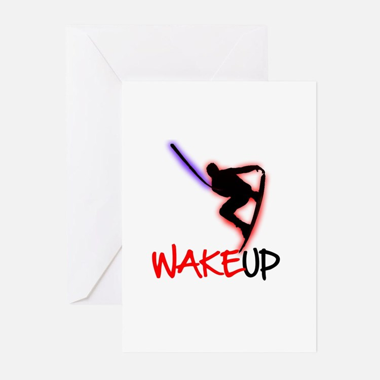 Wake Up Red/Purple Greeting Cards (Pk of 20)