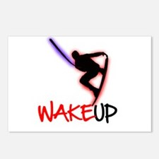Wake Up Red/Purple Postcards (Package of 8)