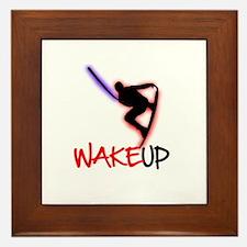 Wake Up Red/Purple Framed Tile