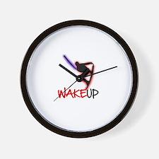 Wake Up Red/Purple Wall Clock
