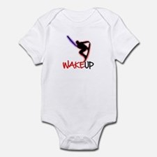 Wake Up Red/Purple Infant Bodysuit